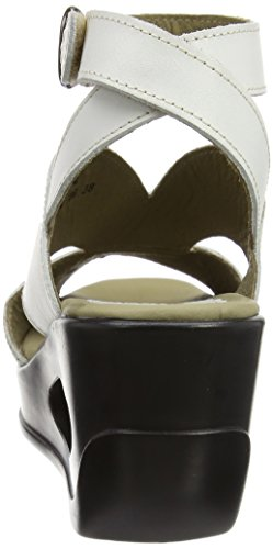 FLY London Damen Hibo869fly Wedges Sandalen Elfenbein (off White 006)