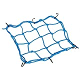 #9: Generic Blue Bungee Motorcycle Helmet Cargo Net 6 Hooks Luggage Package Cargo Net Load Cover Cord Web