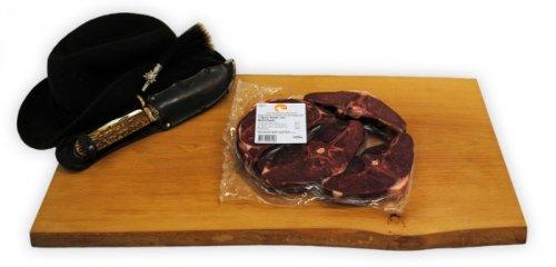 T-Bone Steaks vom Hirsch Gewicht 0,60kg