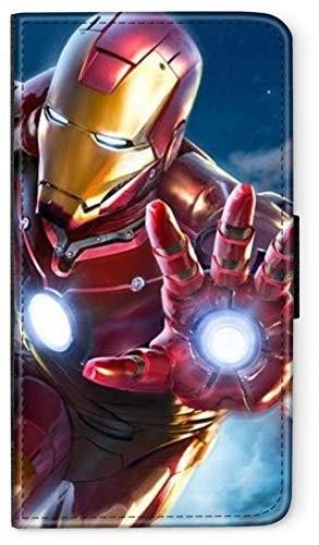 Flip Case Avengers Helden Comic Marvel kompatibel für Huawei P20 LITE Full Iron Man Handy Hülle Leder Tasche Klapphülle Brieftasche Etui rund um Schutz Wallet M3 -