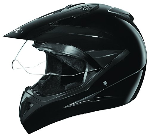 Studds Motocross Plain SUS_MVPFFH_BLKL Full Face Helmet with Plain Visor (Black, L)