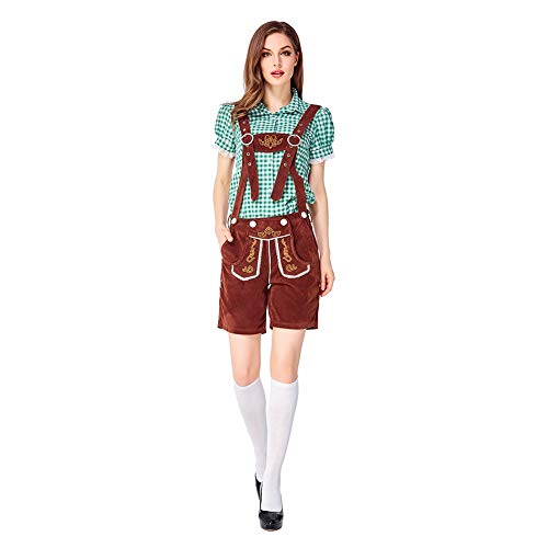 Homeit Adult Women Traditionelle deutsche bayerische Oktoberfest Bier Bar Kostüm Outfit Kleid - S & M & L (Deutsches Bier Kostüm)
