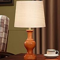 JUNMYEON Lámpara de Noche clásica con Interruptor de botón Retro y Hermosa lámpara de Mesa con