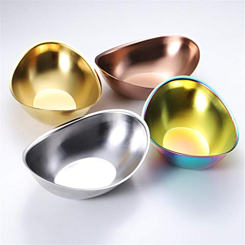 304 de acero inoxidable de 1 mm de espesor en forma de lingote plato de ensaladera coreana vajilla...