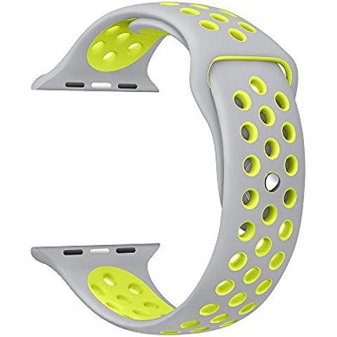 aresh para Apple Watch Apple Watch Series 2accesorios de banda, Quick Release suave silicona goma reloj de pulsera para Apple Watch Apple/Watch Series