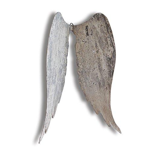 Loberon Engelsflügel Gabrielle, Eisen, H/B/T ca. 50/35 / 10 cm, beige