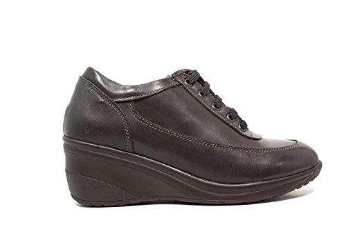Only I sneakers donna zeppa media 4265 pelle marrone nuova collezione autunno inverno 2016 2017
