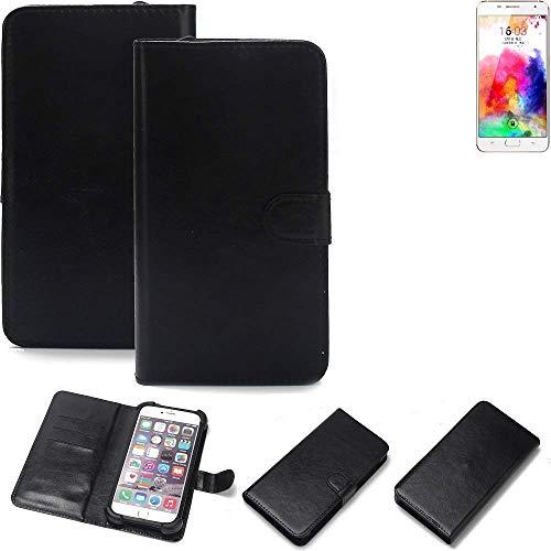 K-S-Trade 360° Wallet Case Handyhülle für Hisense A1 Schutz Hülle Smartphone Flip Cover Flipstyle Tasche Schutzhülle Flipcover Slim Bumper schwarz, 1x