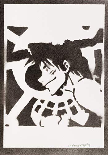 Luffy One Piece Poster Plakat Handmade Graffiti Sreet Art - Artwork