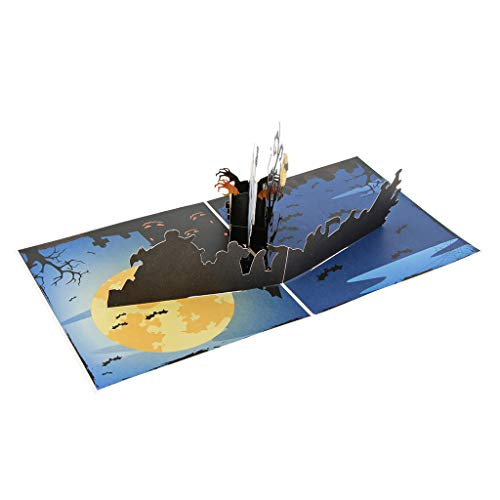 SM SunniMix 3D Grußkarten Geschenkkarten Glückwunschkarten Einladungskarten mit Halloween Design für Weihnachten Taufe und Party