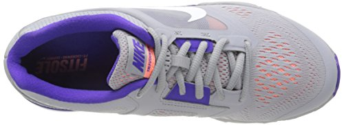 Nike Tri Fusion Run, Chaussures de Running Entrainement femme Gris (Wlf Gry/White-Frc Prpl-Atmc Pn)