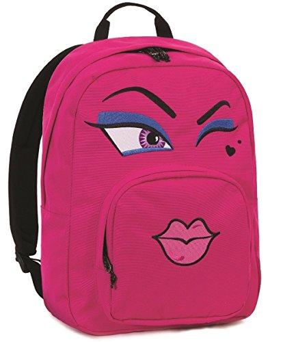 Zaino invicta - ollie pack face - rosa occhiolino - tasca porta pc padded - americano 25 lt zaino scuola americano invicta seven