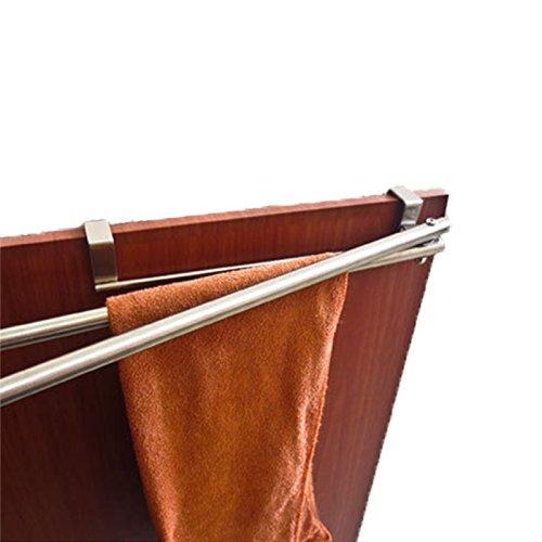 vanra Schrank Tür Doppel Handtuch Bar Racks Halter 33cm Edelstahl für Küche Badezimmer Aufbewahrung - Bar Pot Rack