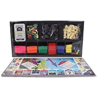 Ratna's 2 in 1 Classic Chess and Business Deluxe Board Game with Best Quality Biscuit Coins Inside to Develop Concentration and Brain Skills