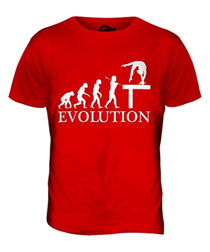 CandyMix Gymnastik Schwebebalken Evolution Des Menschen Herren T Shirt Rot