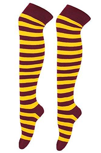 Harry Potter Schal und Mütze Overknee-Socken, Kostüm