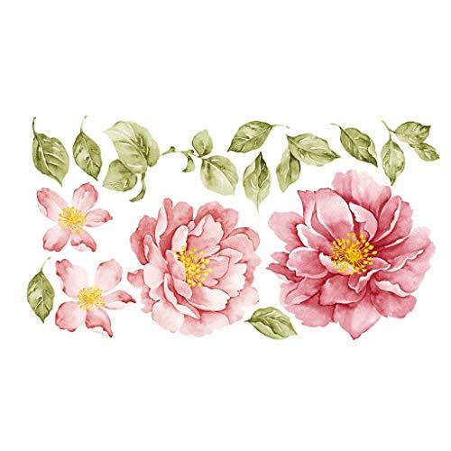 Happy event Glückliches Ereignis Pfingstrose Rose Blumen Wandaufkleber Kunst Kinderzimmer Abziehbilder Kinderzimmer Wohnkultur Geschenk Dekoration 100 x 55 cm