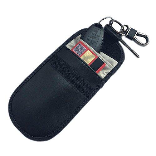 Bolsa de bloqueo de la señal Jaula de Faraday, protección del dispositivo de protección de la llave antivibración, seguridad anti-piratería para llaves inalámbricas de automóviles, llaves de entrada
