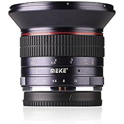 Meike MK 12mm f / 2.8 Objectif à grand angle Objectif à focale manuelle pour montage Micro 4/3 (Olympus et Panasonic Lumix)