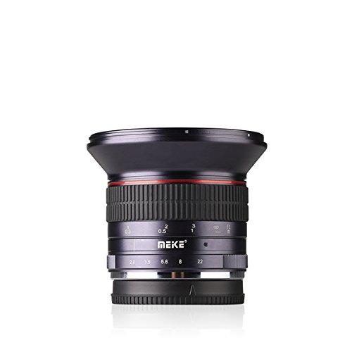Meike MK 12 mm f/2.8 Weitwinkel Manueller Fokus Objektiv für Sony EMOUNT spiegellose Kamera mit APS-C ... (Sony Emount)