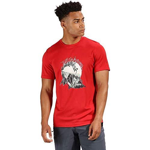 Classic Logo Tee Herren (Regatta Herren Fingal IV Quick Drying UV Protection Logo Tee T-Shirt, Classic Red, XL)