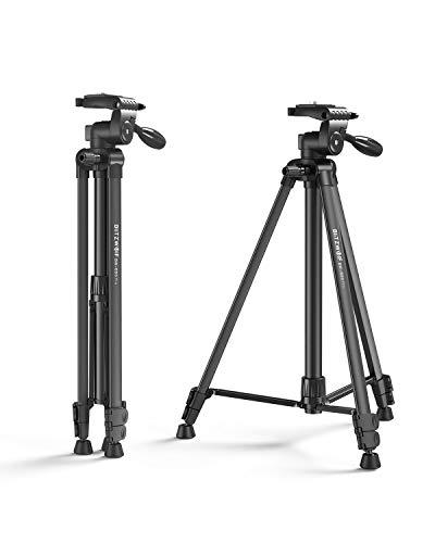 Kamera Stativ, BlitzWolf 150cm Aluminium Tragbares Reisestativ Einbeinstativ Fotostativ mit Bluetooth Fernbedienung, Telefonclip und Tragetasche für Smartphone DSLR-Kamera Canon Nikon Sony (Schwarz)