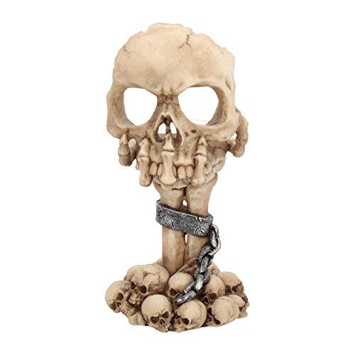 Deko Totenschädel Skelett Teelichthalter Skull Gothic Halloween Dekoration -