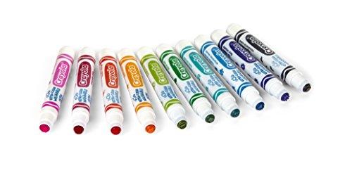 Crayola Ultra Clean Stempelmarker, 10 ct. Marker, bunt, waschbare Farben, Emoticons