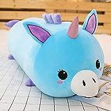 NOVELOVE Plüsch Spielzeug Cartoon Tier Hält Kissen Puppe Geschenk 24 x 80cm Einhorn