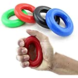 2 Pcs Gripping Ring Trainer Hand Grip Forearm 35KG Strength Gripper Exercise Fitness Body Building Hand Expander Training WYQ