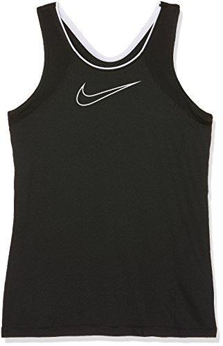 Nike Mädchen Pro Tanktop, Black/Black/(White) (C/O), M (Herstellergröße:137-146 CM/10-12 Yrs) (Bh Tank-top Shirt)