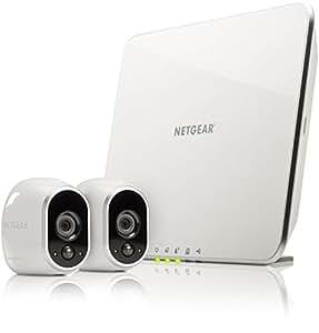Arlo VMS3230 Telecamere di Sicurezza Wifi, senza Fili, Alimentata a Batteria, HD, Visione Notturna, Interno/Esterno, Kit 2 Telecamere