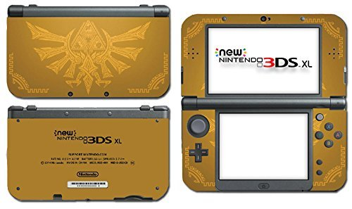 Zelda Hyrule Gold Edition Triforce Heroes Majora's Mask Video Game Vinyl Decal Skin Sticker Cover for the New Nintendo 3DS XL LL 2015 System Console by Vinyl Skin Designs (Xl New Mask Majoras 3ds Nintendo)