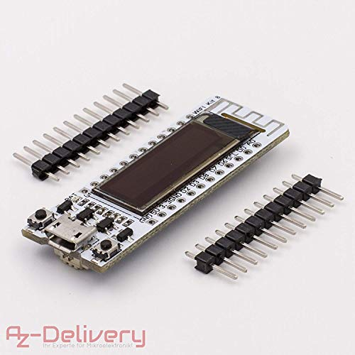 AZDelivery ⭐⭐⭐⭐⭐ NodeMCU ESP8266-12E mit OLED Display CP2102 WLAN WiFi Development Board für Arduino
