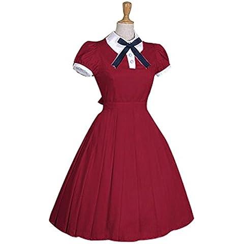 Sweet Nuoqi® maniche corte da bambina con fiocco in pizzo Lolita Palace-Costume da principessa