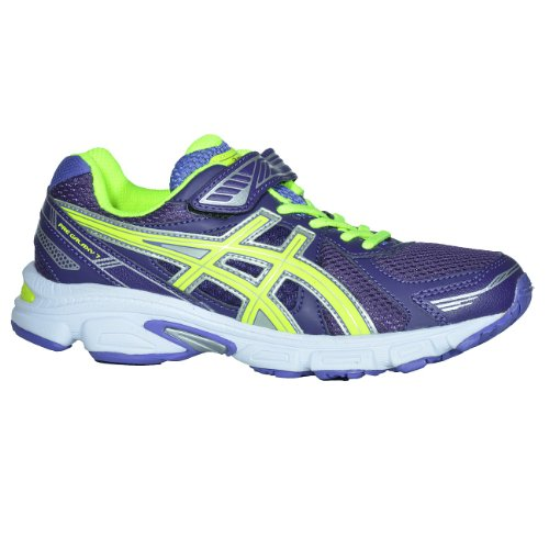 Asics  Running Pre Galaxy 7 Ps,  Unisex-Kinder Joggingschuhe (DEEP PURPLE/FLASH YELLOW/BLUE)