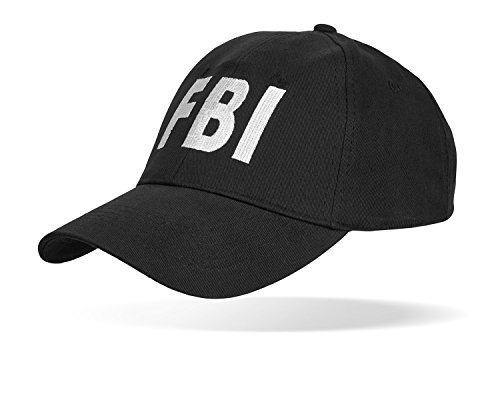 Black Snake SWAT FBI Security Police Baseballcap größenverstellbar durch Clipverschluss FBI - Fbi Kostüm Für Herren
