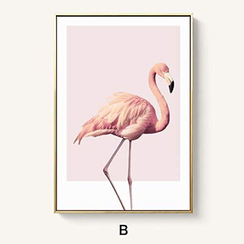 zlhcich Nordic Wohnzimmer Dekoration einfache esszimmer malerei Studie rosa malerei Schlafzimmer Nacht Blume B 50 * 70 (Hemsworth B)