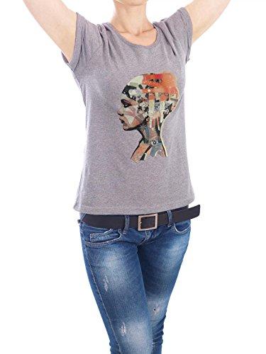 """Design T-Shirt Frauen Earth Positive """"Zeta"""" - stylisches Shirt Motiv von Giulio Iurissevich Grau"""