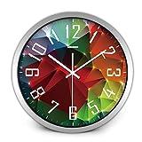 YNMB KS Silent Watch Réveil Salon Salon Moderne personnalité créatrice Horloge Quartz Chambre Table Suspendus Simple Horloge Nouvelle (Couleur: argenté, Taille: L)