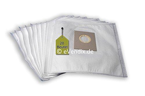 Preisvergleich Produktbild 20 Staubsaugerbeutel passend für Chromex CH 260 | 4-lagiger Microvlies Staubbeutel von eVendix®
