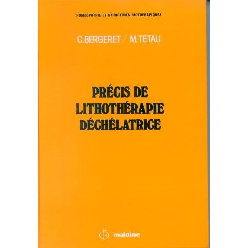 PRECIS DE LITHOTHERAPIE DECHELATRICE
