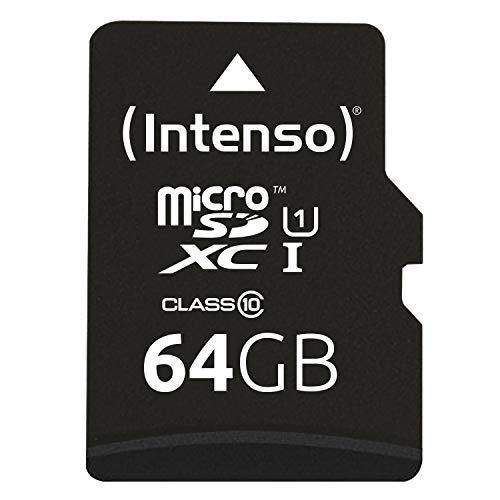 Intenso Micro SDXC 64GB Class 10 Speicherkarte inkl. SD-Adapter (UHS-I) - High-speed Microsdhc-karte