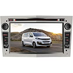 AWESAFE Autoradio 7 Pouces GPS Navigateur pour Voiture unité de tête stéréo Voiture 2 Din avec Lecteur de CD DVD USB SD 720P Video FM AM RDS Wince Système