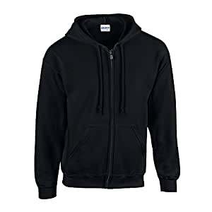 Gildan - Kapuzen-Sweatjacke 'Heavyweight Full Zip' 3XL,Black
