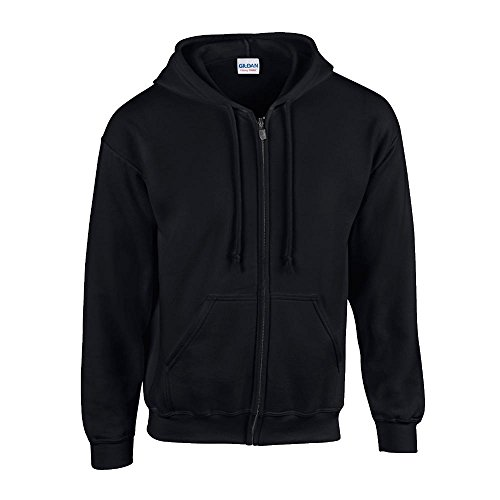 Gildan Kapuzen-Sweatjacke 'Heavyweight Full Zip'/Black, 4XL