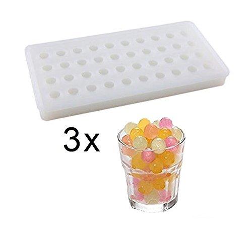 SWEET CANDY BAKERY 3 x Eiskugeln Form aus Silikon Eiswürfelform Eis-kügellchen Eiskugeln Kugel-form Schokoladen-form Pralinen-form