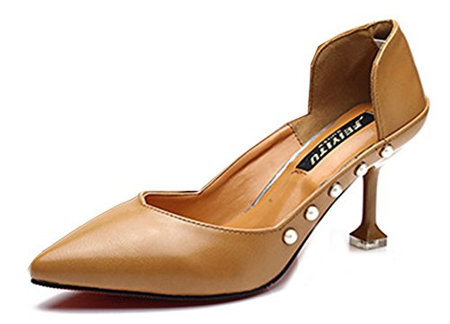 Perline Caviglia Scarpe Gialle Ornamento Donna Alla Cinturino Aisun Classico axwF1Rq8FH