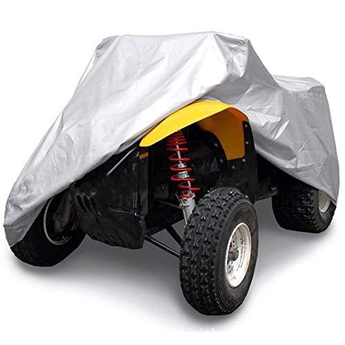 QIANCHENG Silber Strand Autoschutzhülle ATV-Abdeckung Autokleidung Regenfest Sonnencreme staubdicht wasserdicht Plane (Size : XXL-220 * 98 * 106cm)