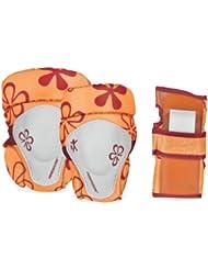 Powerslide 901111/1 Ensemble de protections pour enfant Motif floral Orange TailleXXS